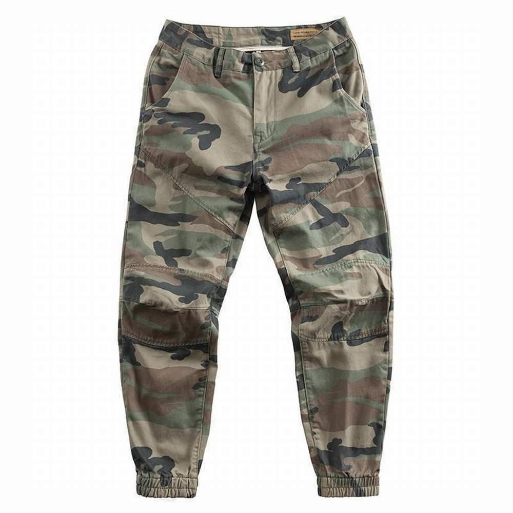 Брюки-карго мужские камуфляжные, повседневные свободные штаны в стиле милитари, хаки, хлопковые брендовые уличные штаны для бега