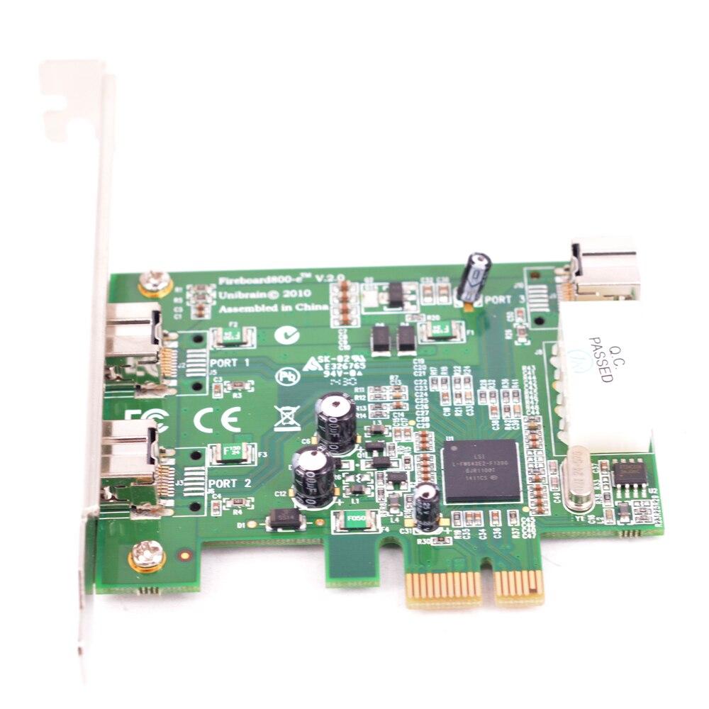 بطاقة 1394B PCI-e الخارجية 2 1 منافذ ، 800 IEEE ، 3 منافذ ، 1394 b PCI express PCIe إلى كاميرا رقمية ، كابل 1394B إلى 1394A