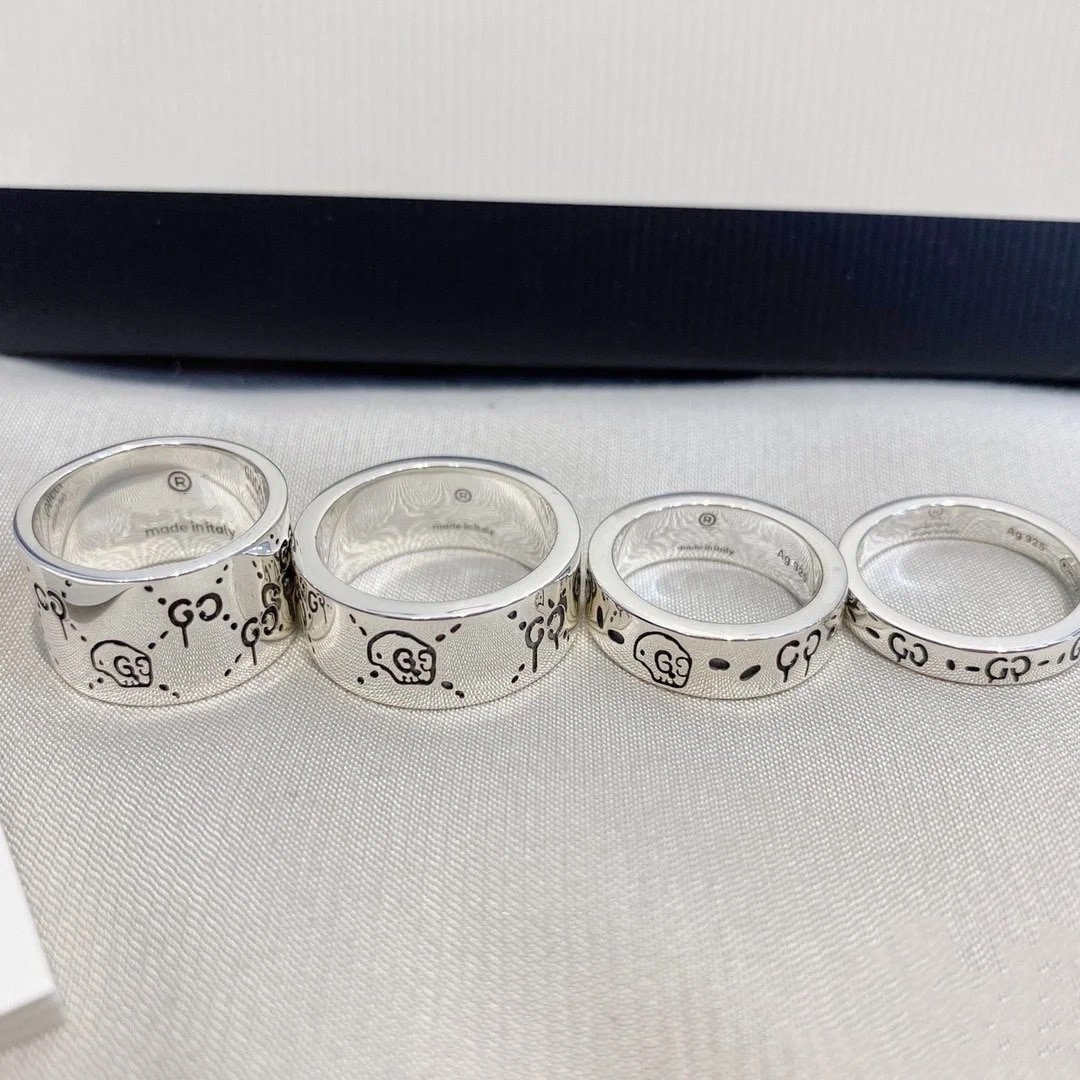 925 Sterling Silver Rings for Men and Women Ghost Series Classic Original G Ring Love Ring Fine Jewe