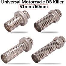 Slip On Moto universale 51mm 60mm DB Killer Catalyst silenziatore rumore eliminatore di suono flusso di scarico Moto Escape silenziatore