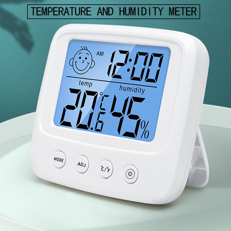 LCD Digital Temperature Humidity Meter Backlight Electronic Hygrometer Thermometer Home Indoor Weath