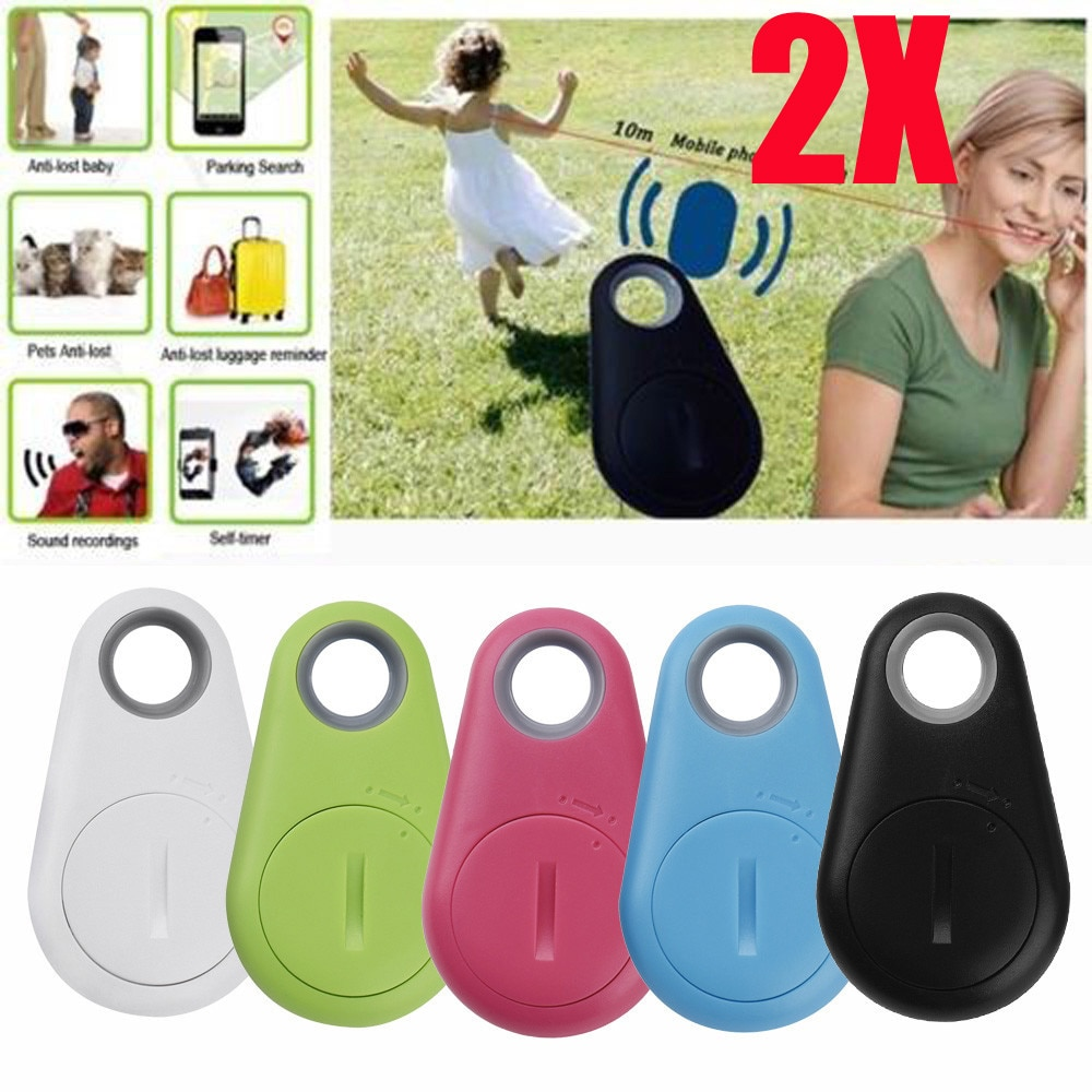 2PC Anti-Lost Theft Device Alarm Bluetooth Remote GPS Tracker Child Pet Wallet