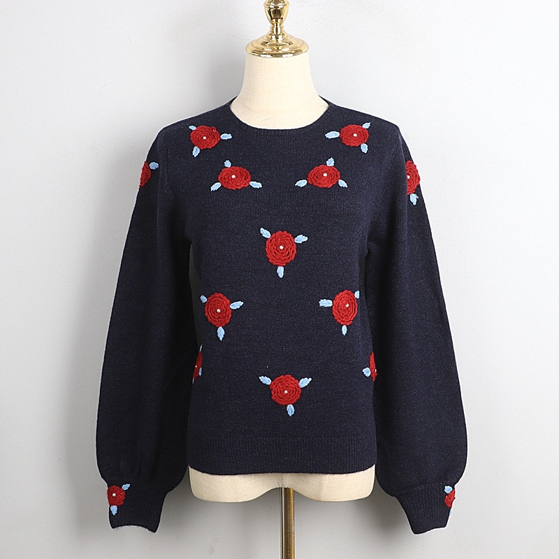 1101 2020 осенний свитер Бесплатная доставка Ctrew шеи с длинными рукавами вязаная черного и серого цвета; Модная женская одежда, размер S m L dl