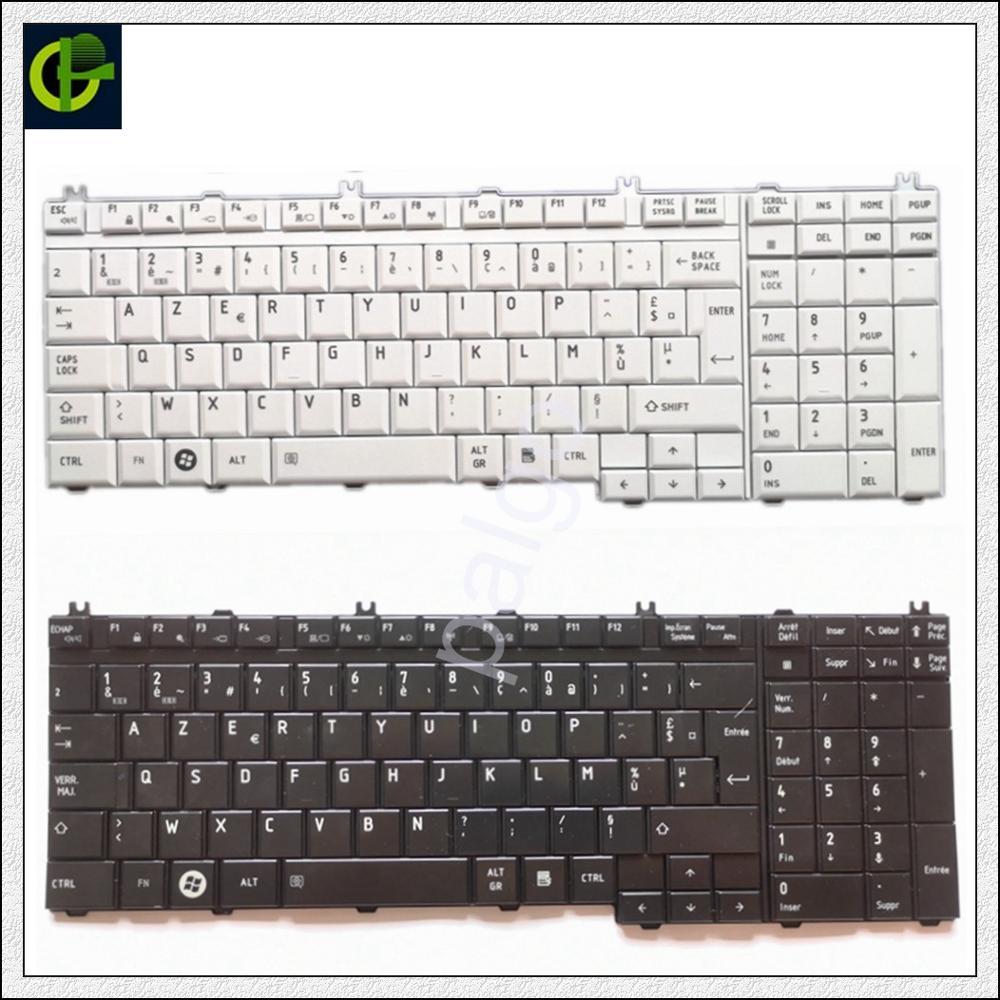 لوحة مفاتيح ازيرتي الفرنسية لتوتوشيبا Qosmio G50 G55 F60 X205 X305 X505 F750 F755 Tecra A11 S11 مع لوحة أرقام FR