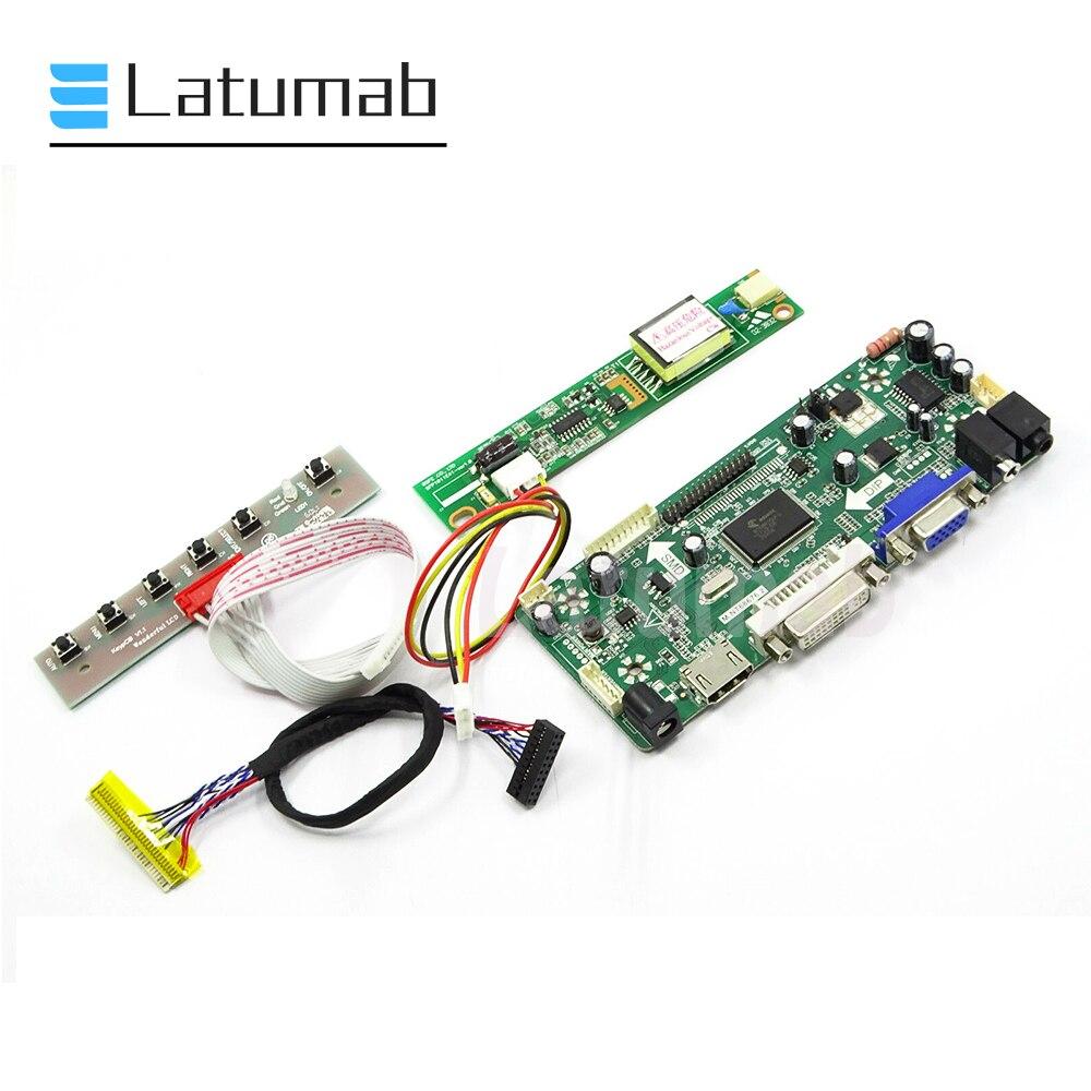 Latumab nuevo controlador Kit para LP154WX4 TLC8 / LP154WX4 TLC9 (+ HDMI + DVI + VGA) 1280X800