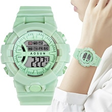 vansvar INS Candy Color Electronic Watch Student Digital Watch Luminous Waterproof Gift Watch שעו