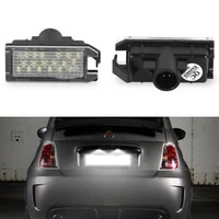 2pcs led license number plate light for jeep grand cherokee compass patriot for maserati levante for fiat 500 for dodge viper