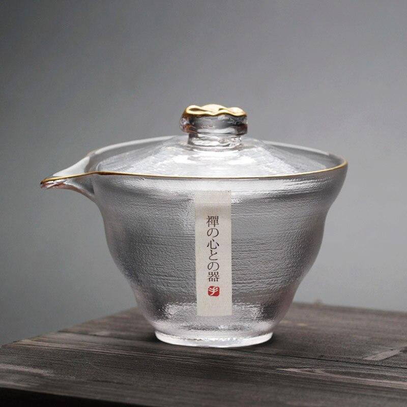 اليابانية مكافحة السمط الزجاج مغطاة السلطانية فنجان شاي الراقية Sancai الشاي السلطانية الكونغفو طقم شاي الشاي صنع كأس عادل اليد انتزاع وعاء