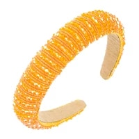 3cm headbands for hair woman curved crystal glass beads stands hand wrapped womens headband for luxury hair accessories