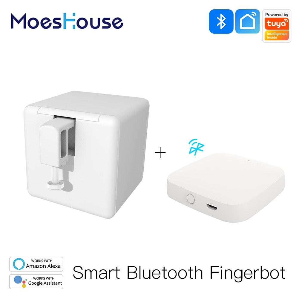 AliExpress - MoesHouse Tuya Smart Bluetooth Fingerbot Switch Bot Button Pusher Smart Life App Voice Control via Alexa, Google Assistant