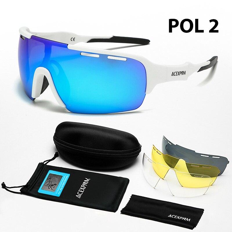 Gafas de sol polarizadas para ciclismo, 4 lentes, UV400, 2020