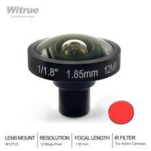 4K 12MP Fisheye Cctv Lens 1.85Mm 1/1.8 Inch 185 Graden M12 Mount Lens Voor Sjcam Xiaomi Yi Gopro Eken Action Camera