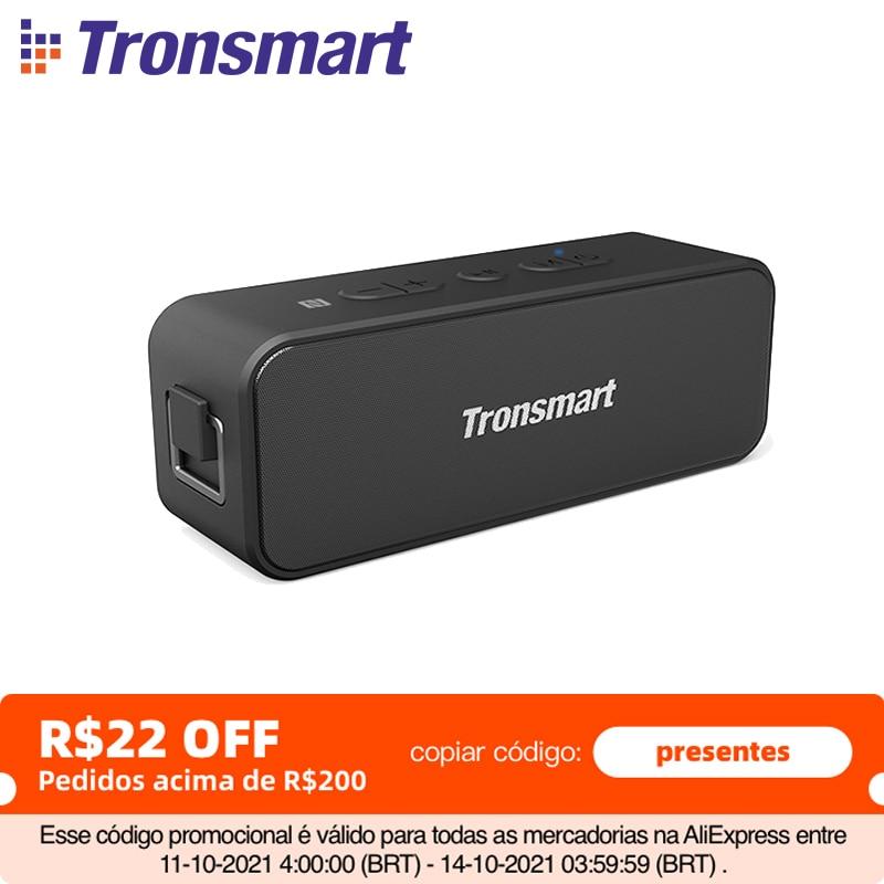 Tronsmart T2 Plus Портативная колонка Tronsmart T2 Plus, Bluetooth 5,0, 20 Вт, 24 часа, IPX7, NFC, голосовой помощник, Micro SD