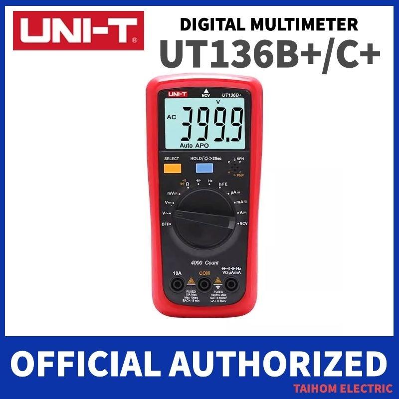 UNI-T UT136B +/UT136C + رقمي متعدد المدى السيارات 1000V 10A AC DC الفولتميتر الحالي متر الكهربائية اختبار درجة الحرارة قياس