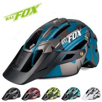 BATFOX-casco de camuflaje con luz trasera para bicicleta, casco de ciclismo de...