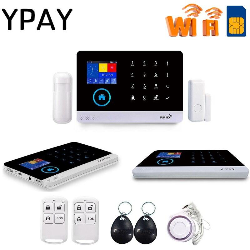 YPAY PG-103 inalámbrico hogar GSM seguridad DIY Kit APP Control con Auto Dial Detector de movimiento Sensor sistema de alarma antirrobo