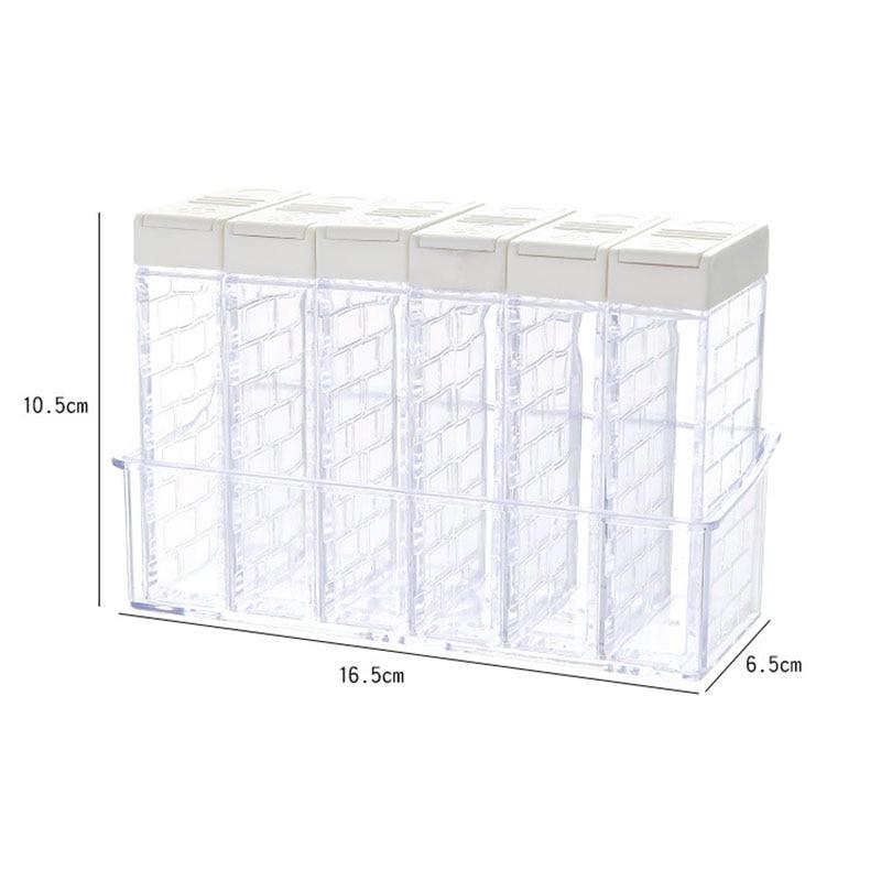 Ferramentas de cozinha spice jar jar caixa de tempero plástico tampa frasco camada açúcar caixa armazenamento acessórios casa acabamento garrafa armazenamento