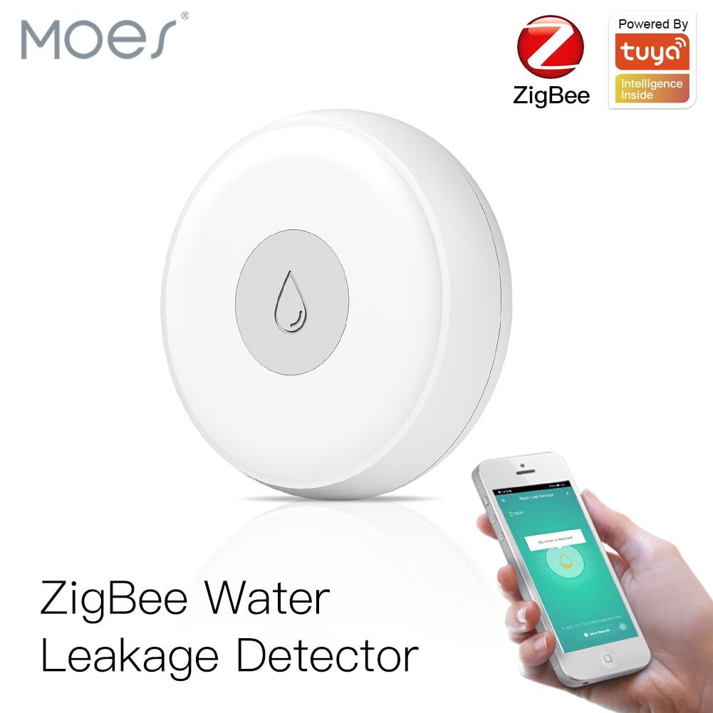 ZigBee-مستشعر الفيضانات الذكي ، كاشف تسرب المياه ، نظام إنذار أمان Tuya/Smart Life ، جهاز التحكم عن بعد