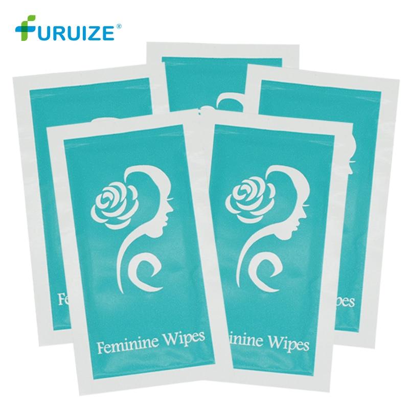 Toallitas húmedas para la copa menstrual, 10 Uds., higiene vaginal, toallitas húmedas personalizadas, toallitas furuizadas