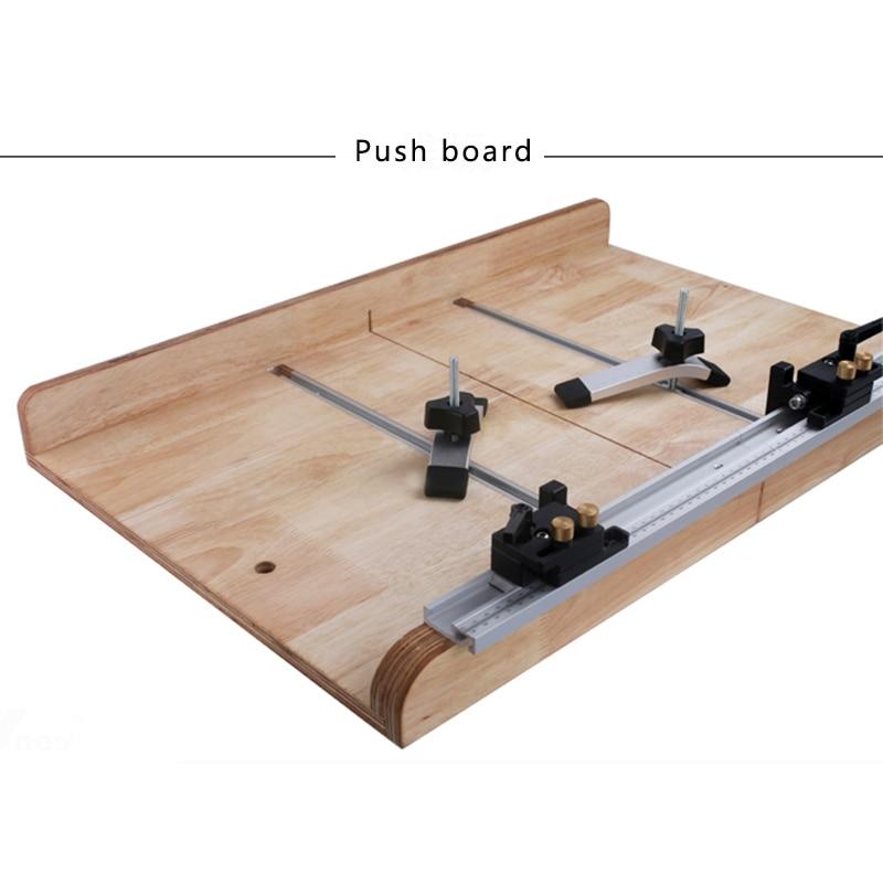 Aluminio T riel Miter Track Stop Limiter Miter t-slot 300-800mm herramientas manuales para trabajar la madera