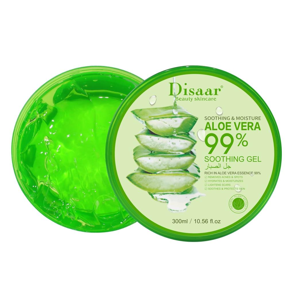 SNOW LADY DISAAR 300ML 99% Organic Aloe Vera Soothing Gel Face/Hand/Body Skin Care Remove Acne Moisturizing Repair After Sunburn