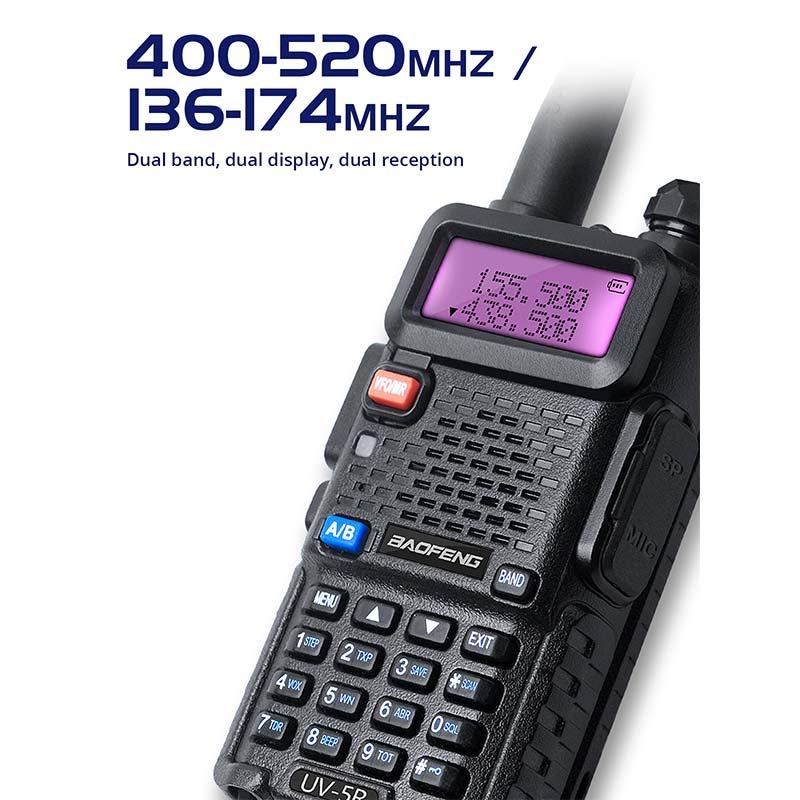 2Sets UV 5R Walkie Talkie Radio Station Comunicador UV-5R HAM Transceiver Dual-Band Intercom Handheld Talkie Walkie UV5R enlarge