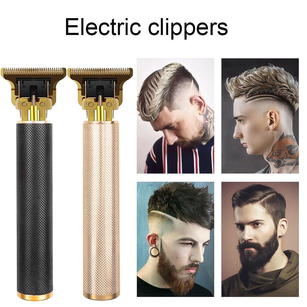 maquina de corte de cabelo usb profissional 0mm aparador de cabelo careca barba barbeando