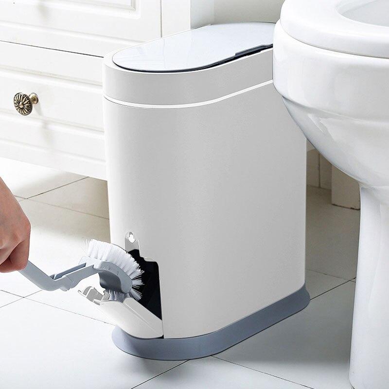 Joybos Smart Sensor Trash Can Electronic Automatic Bathroom Waste Bin Household Toilet Waterproof Narrow Seam Sensor Bin enlarge
