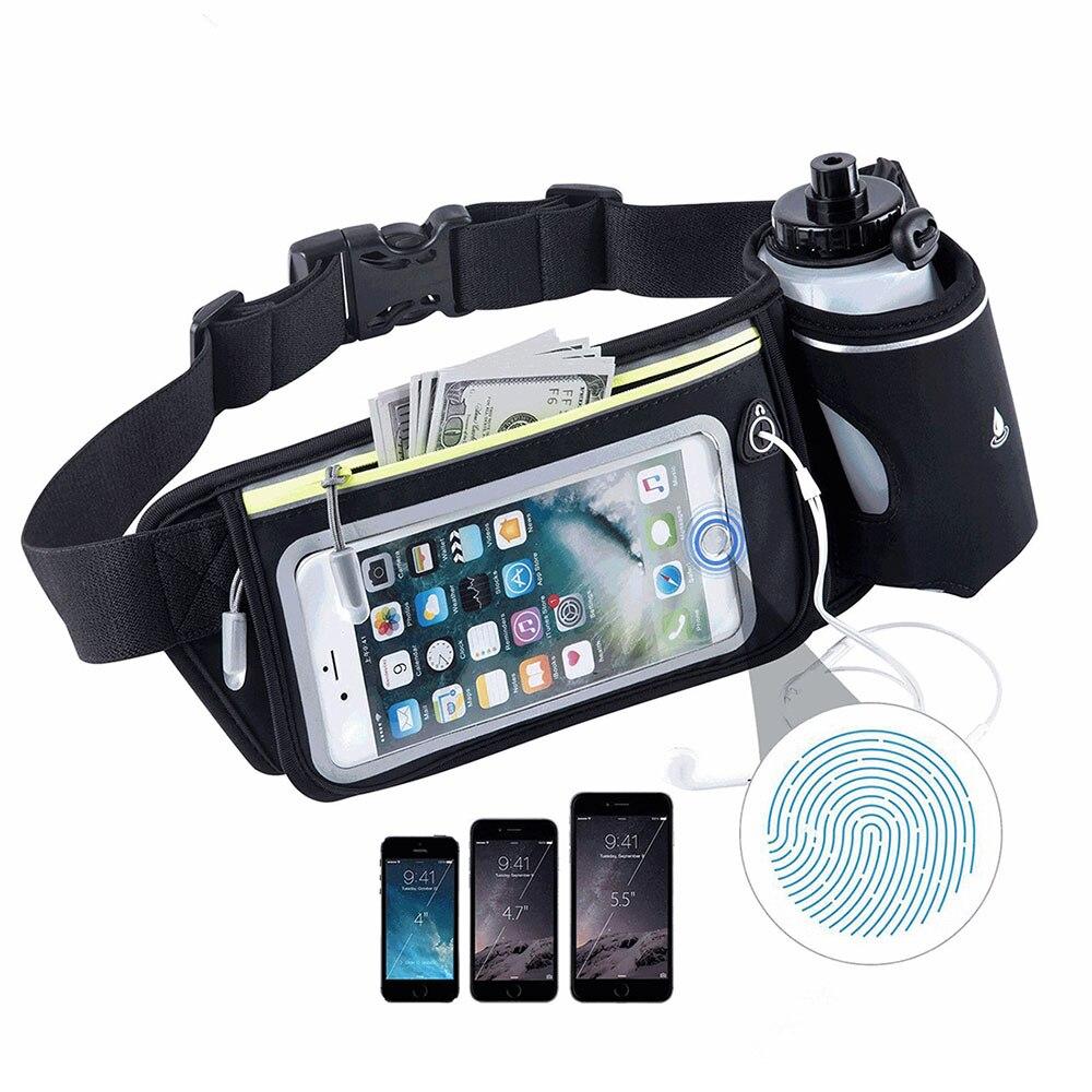 Unisex Outdoor Sport Gym Trail Running Water Bottle Phone Waist Bag Fanny Packs For Sports Trail Run Hiking Waist Bag