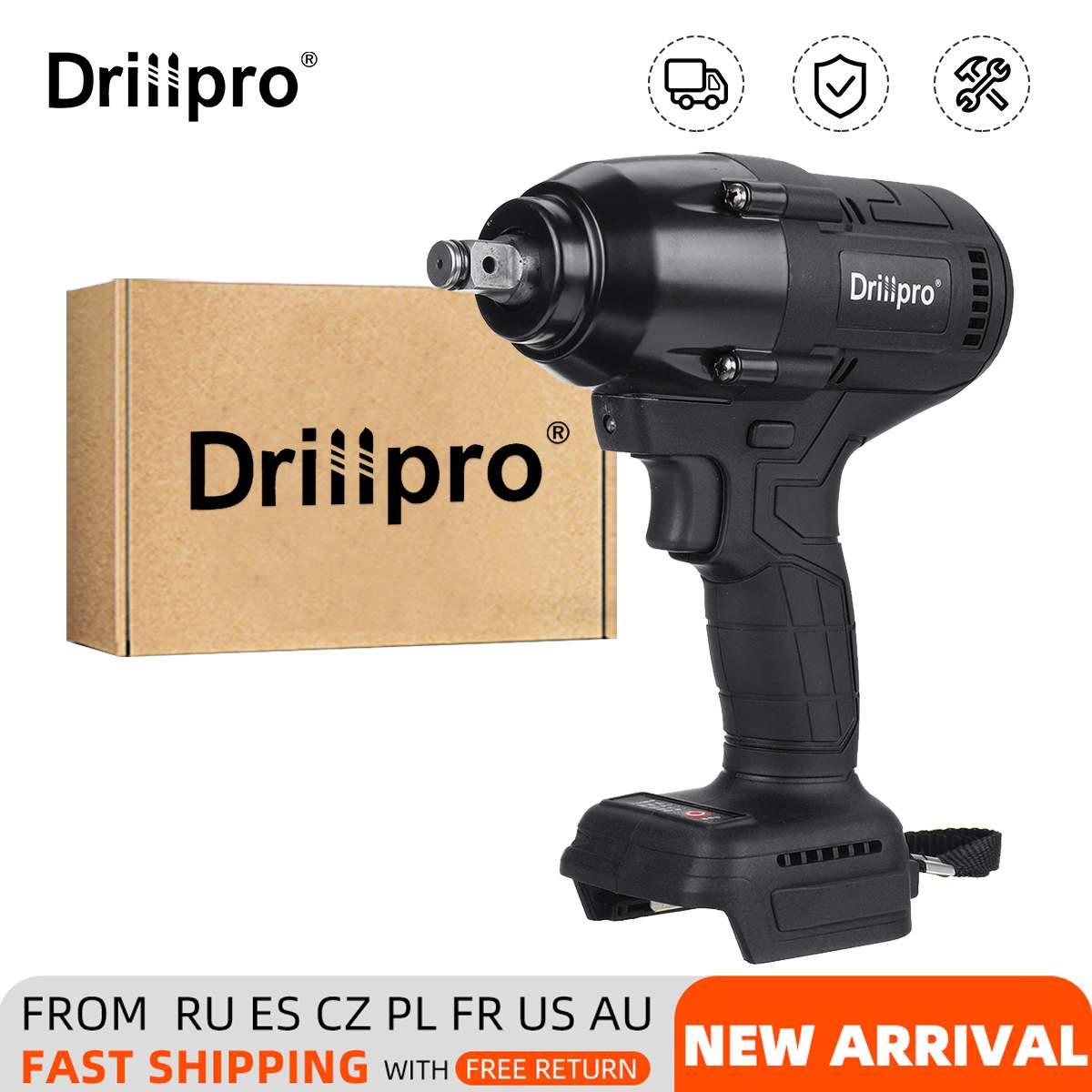 Drillpro 800N.M فرش مفتاح برغي كهربائي قابلة للشحن 1/2