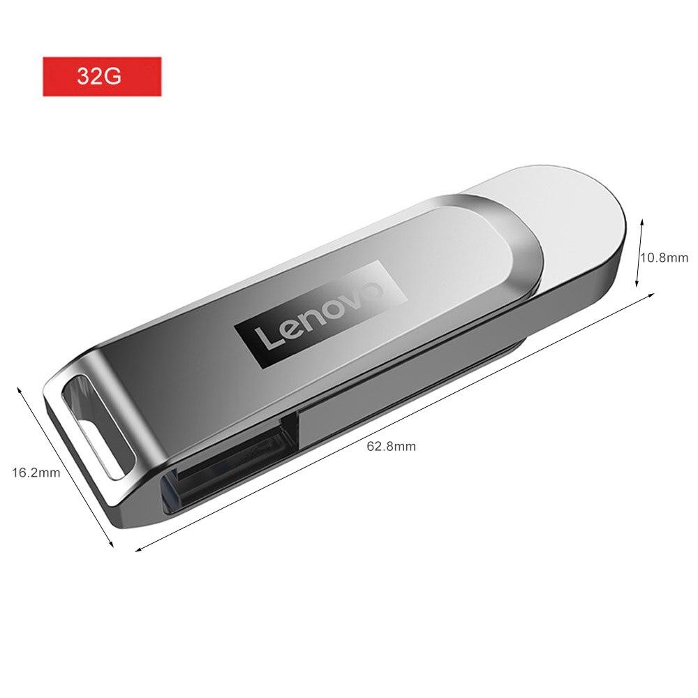 لينوفو X3 32/ 64/ 128G USB3.1 فلاش حملة سبائك الزنك 90-120 برميل/الثانية يو القرص الذاكرة لأجهزة الكمبيوتر المحمول دعم ويندوز XP/Vista /Win7/8/10