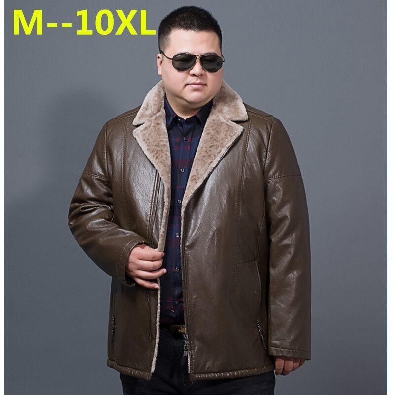 10XL 9XL 8XL 6X invierno para hombre chaqueta de cuero genuino para hombre solapa de cachemir abrigo para hombre piel de oveja chaqueta caliente de marca masculina abrigo de calidad superior