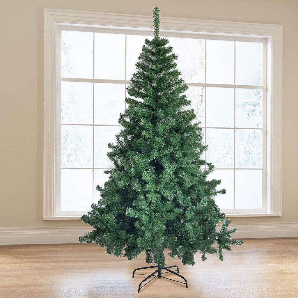 6/7.5 pies abeto con bisagras lápiz árbol de Navidad Artificial respetuoso con el medio ambiente e árbol 800/1075 puntas con soporte plegable de Metal