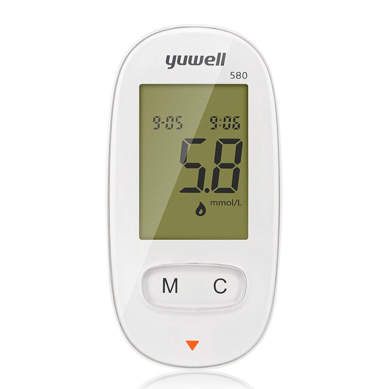 YUWELL 580 Glucometer with 100pcs Tester Lancets Medical device Measuring for Blood Diabetes without the test strips