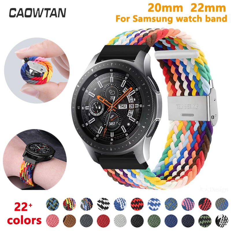 AliExpress - 20mm 22mm Nylon strap for Samsung Galaxy Watch 42mm 46mm band Active 2 Watch Adjustable Bracelet For Amazfit Watch band Huawei