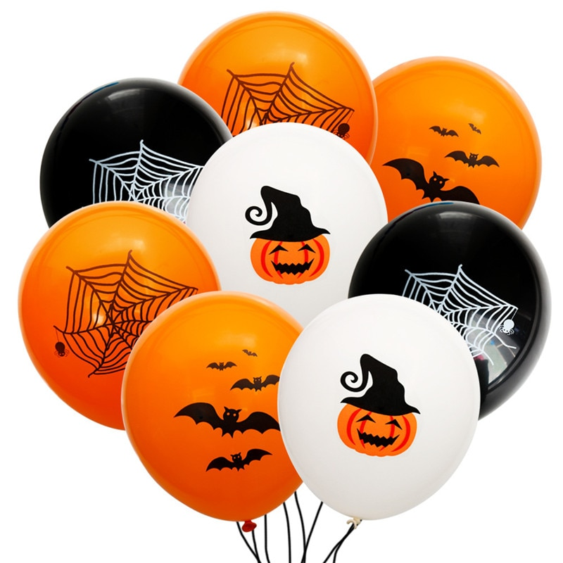 5/10pcs Halloween Balloons Latex Bat Pumpkin Spider Balloons Festival Decoration Supplies Party Balloons For