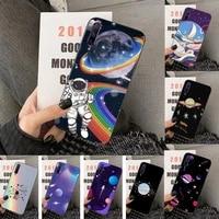 cute cartoon astronaut star space phone case for huawei y5 y62019 y52018 y92019 luxury funda case for 9prime2019