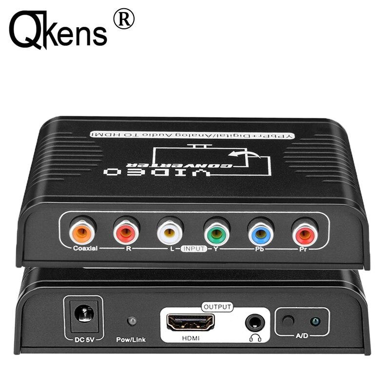 Компонентный видео Ypbpr + цифровой/аналоговый коаксиальный аудио в HDMI конвертер адаптер для Wii PS2 PS3 DVD плеер для ТВ HD ТВ проектор