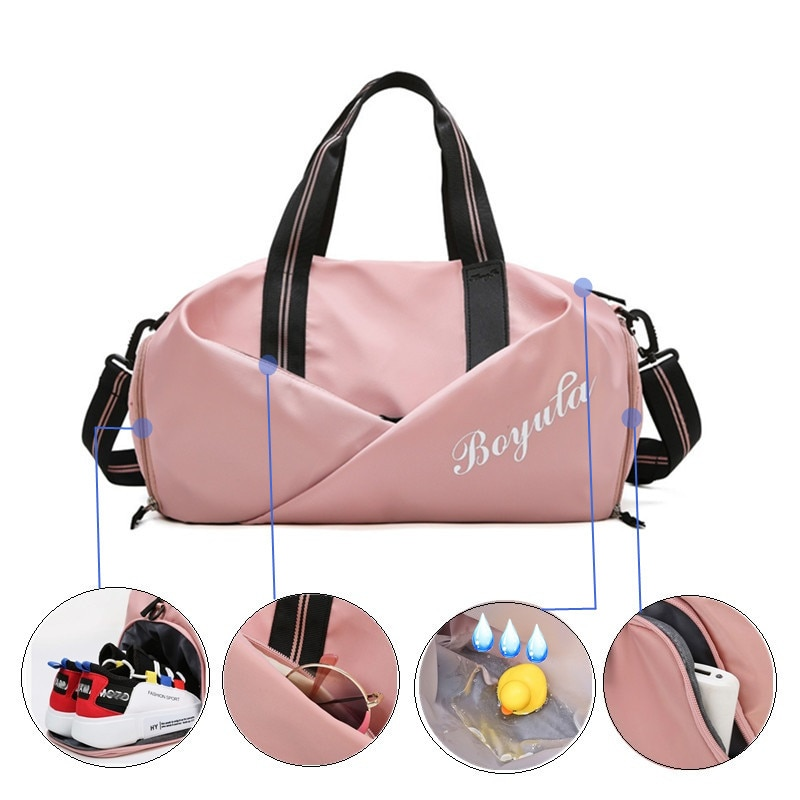 Women Gym Bag Sports Fitness Handbag Training Bags For Shoes Travel Dry And Wet Yoga Mat Sac De Sport Mochila Sporttas