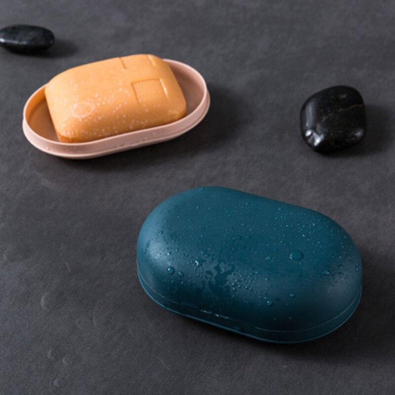1 Uds. Jabonera portátil a prueba de fugas para caja de almacenamiento de viaje PP plástico 4 colores baño accesorio Oval