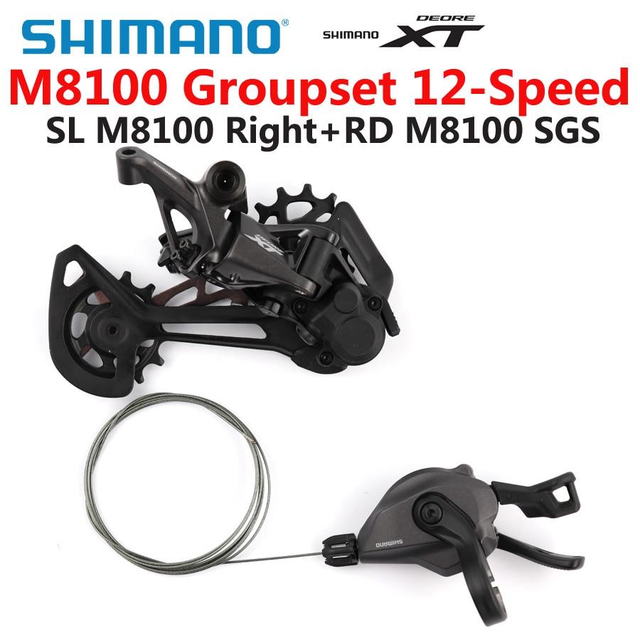 Shimano conjunto de bicicleta deore xt m8100, alavanca de câmbio 1x12-speed sl + rd m8100