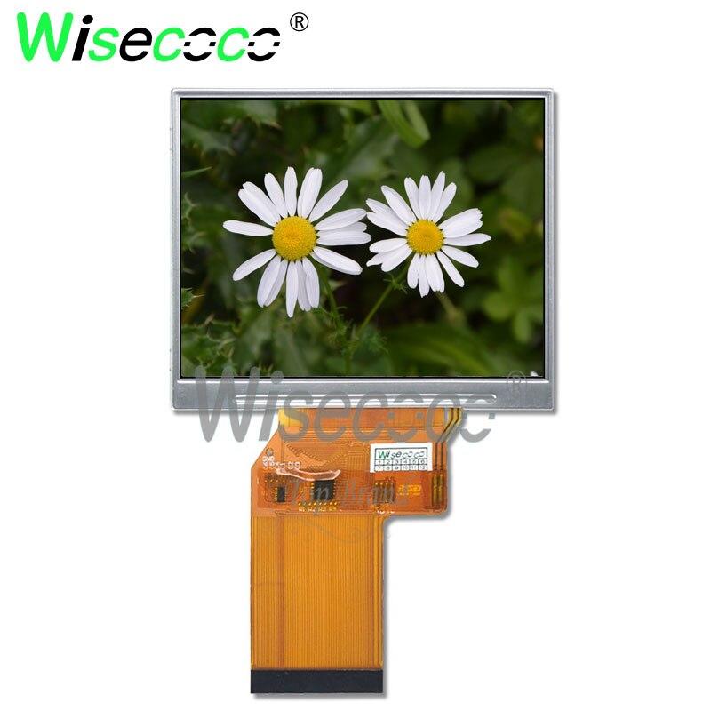 Wisecoco original neue 3,5 zoll 640x480 TFT LCD bildschirm für handheld und PDA digital vedio kamera JT035IPS02-V0