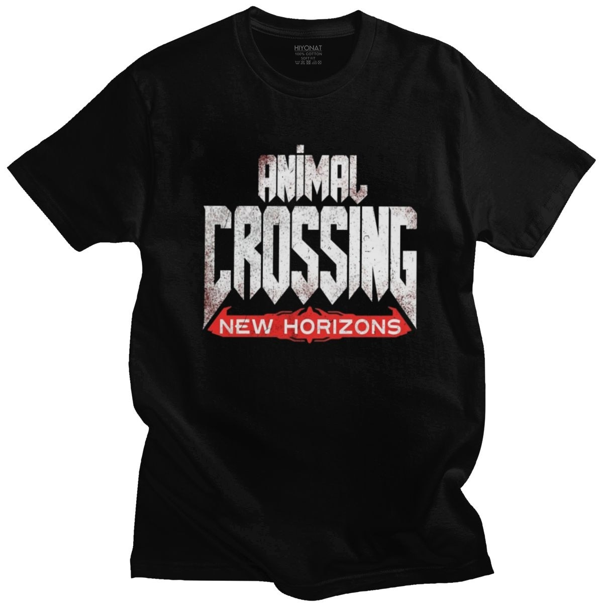 Stilvolle Doom Ewige Animal Crossing T Hemd Männer Kurzarm Video Spiel T-Shirt Oansatz Reine Baumwolle T Top Waren Geschenk