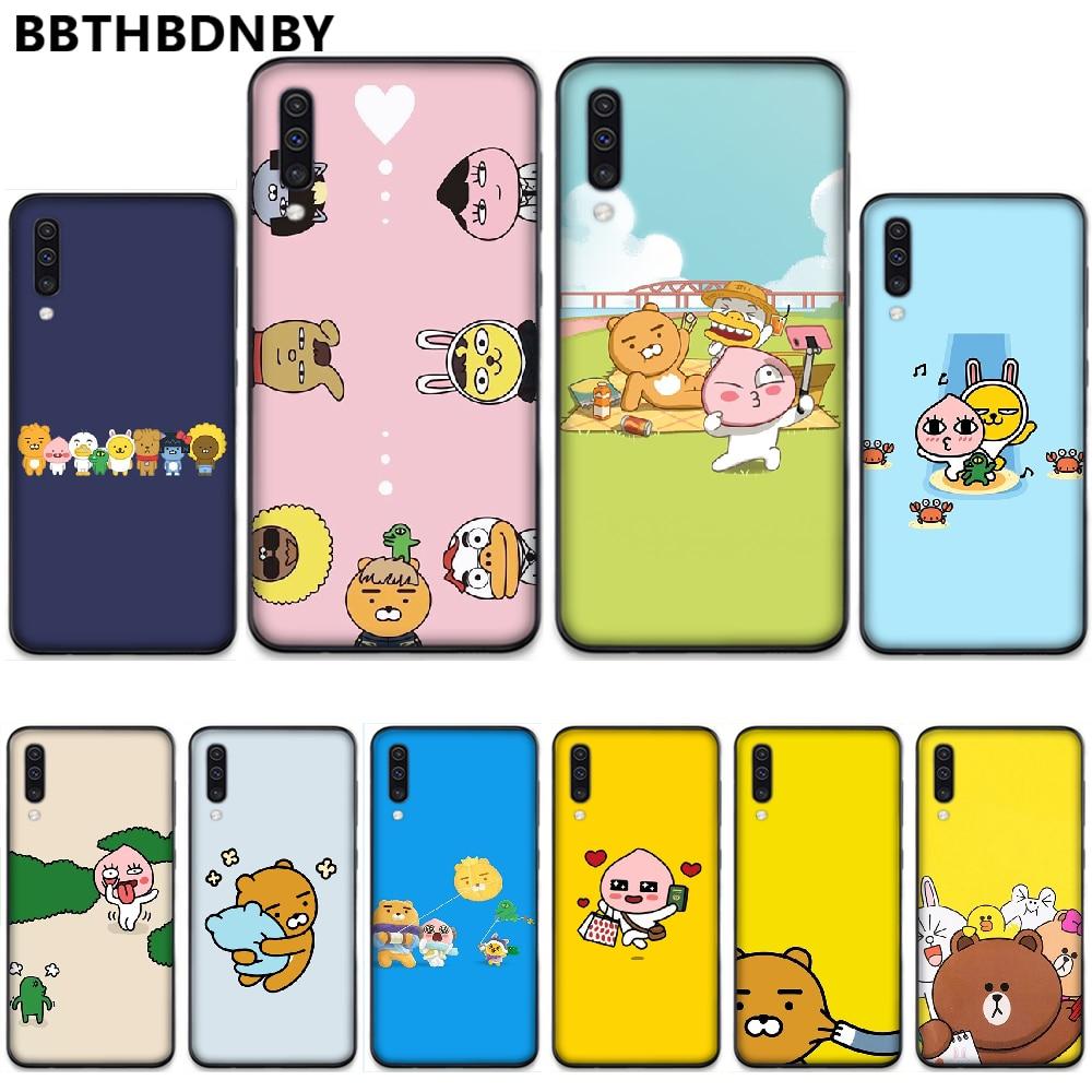 Korean cartoon funny cocoa friend Phone Cover Hull For Samsung A20 A30 30s A40 A7 2018 J2 J7 prime J4 Plus S5 Note 9 10 Plus