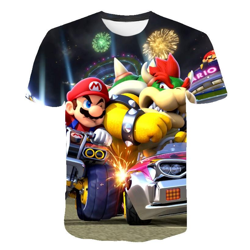 AliExpress - Summer The New O-Neck Super Mario Boy/Girl  Oversized T-Shirt Fashion Classic Game Comfortable Streetwear Short sleeve T-Shirts