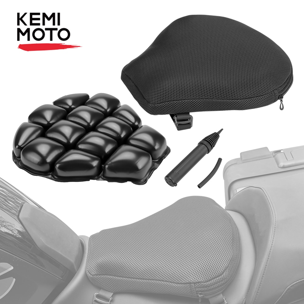 KEMiMOTO Air Pad Motorcycle Seat Cushion Cover Universal For CBR600 Z800 Z900 For R1200GS R1250GS For GSXR 600 750 For 390 ATV