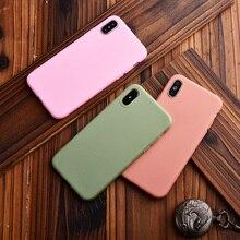 Coque de téléphone couleur unie mate pour Apple iPhone 6s Plus 6 7 8 SE XS MAX X XR Coque en Silicone souple