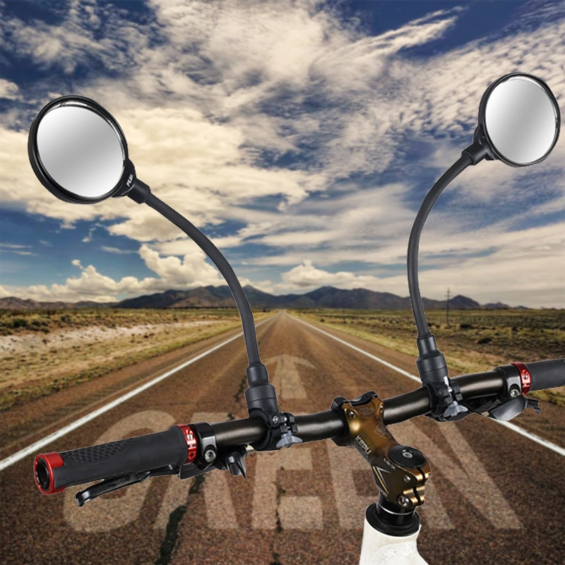 Bike Rearview Mirror 360° Adjustable Road Mountain Bicycle Handlebar Wide Angle Rear View Mirror Mo