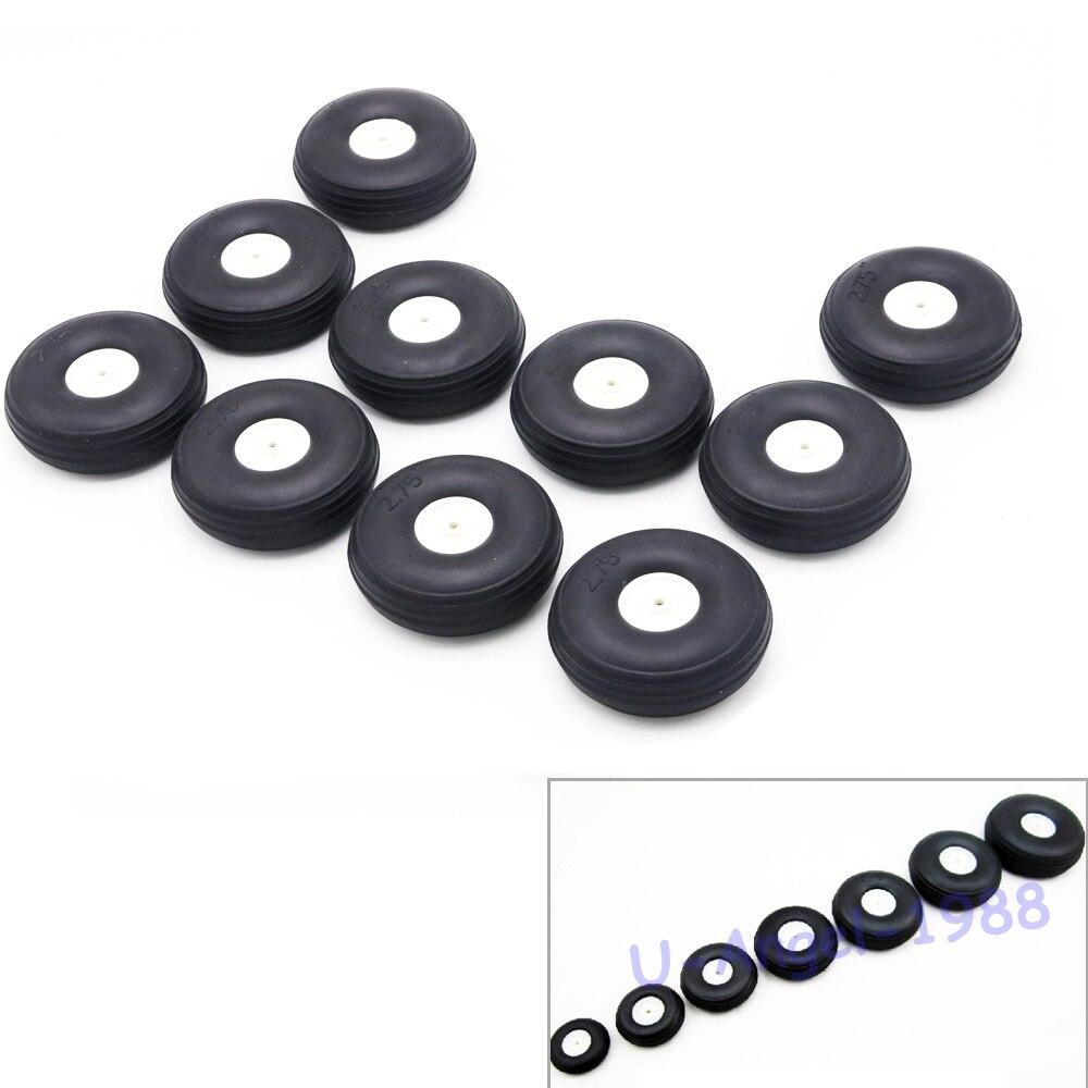 2 pçs/lote Alta roda de borracha elástica para Fixo Rc-avião de asa (diâmetro 25/32/45/50/55/64/70/76MM) pode para DIY robô pneus