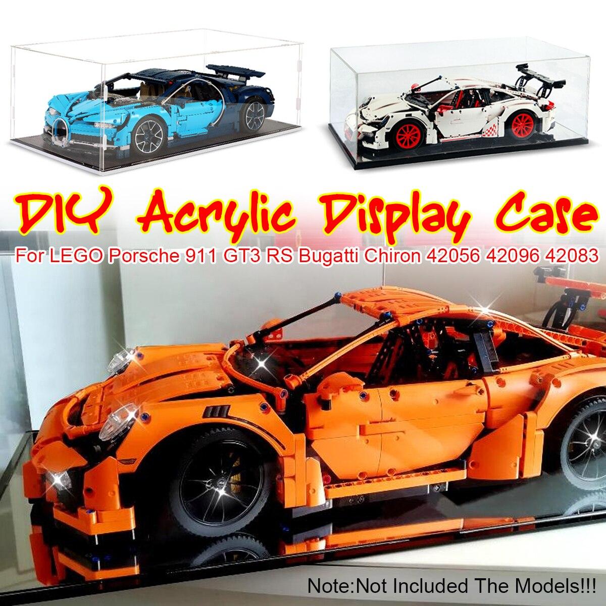 Акриловый чехол-коробка 42056 42096 42083 для Bugatti Chiron для Porsche 911 GT3 RS Technic Series (без модели)